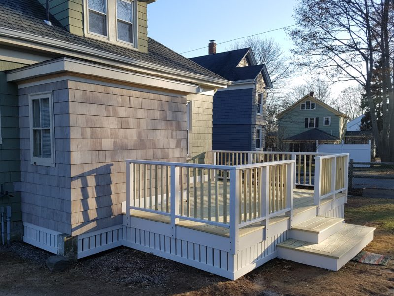 New porch on 1920's bungalow in South Portland, Maine